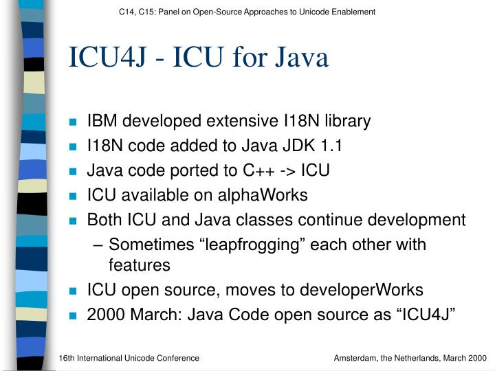 ICU4J - ICU for Java