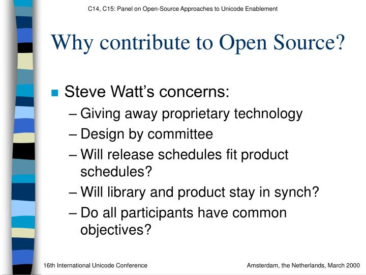 Why contribute to Open Source?