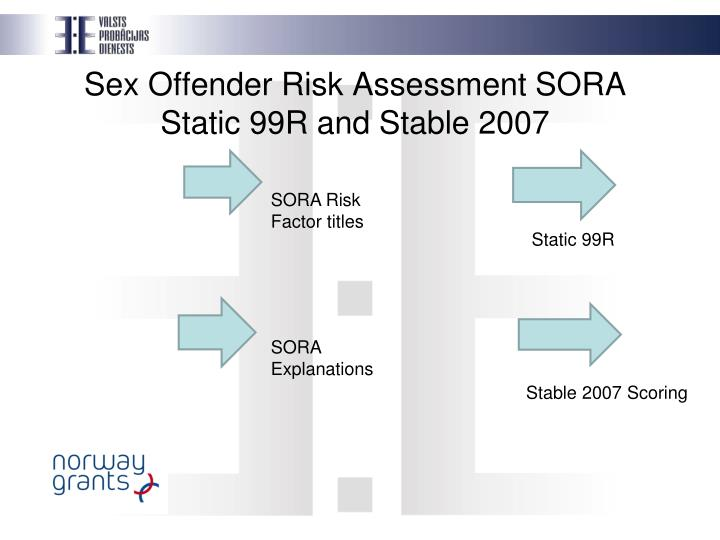 Stable test assessment of sexual offenders