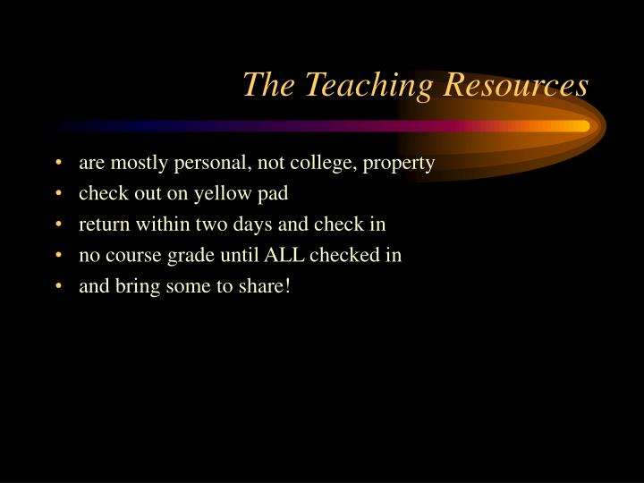 The Teaching Resources