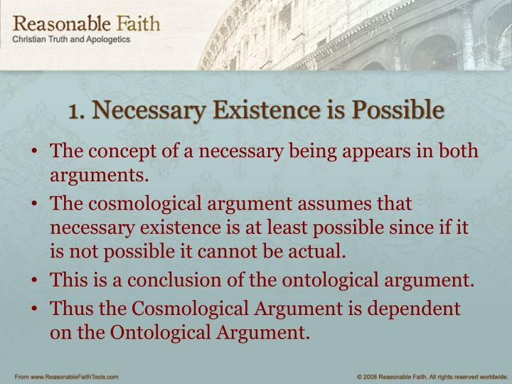 1. Necessary Existence is Possible