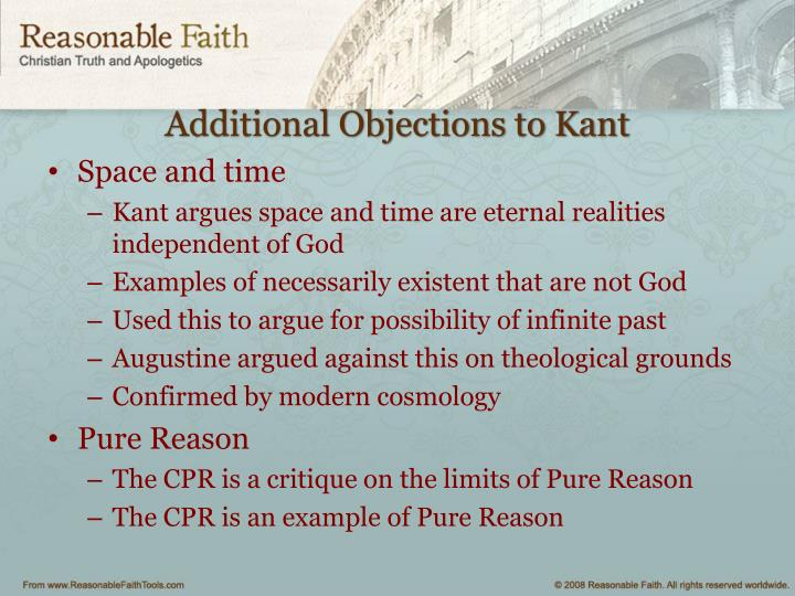 Additional Objections to Kant