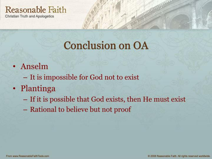 Conclusion on OA