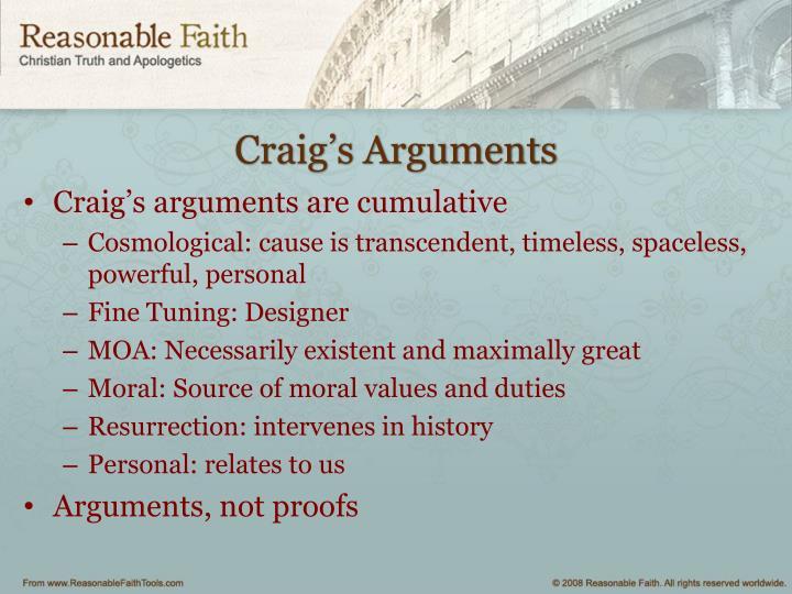 Craig's Arguments