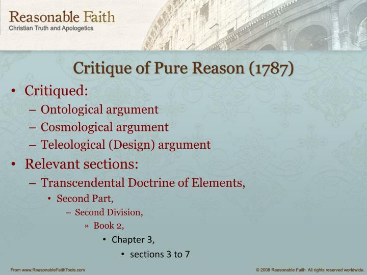 Critique of Pure Reason (1787)