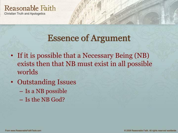 Essence of Argument