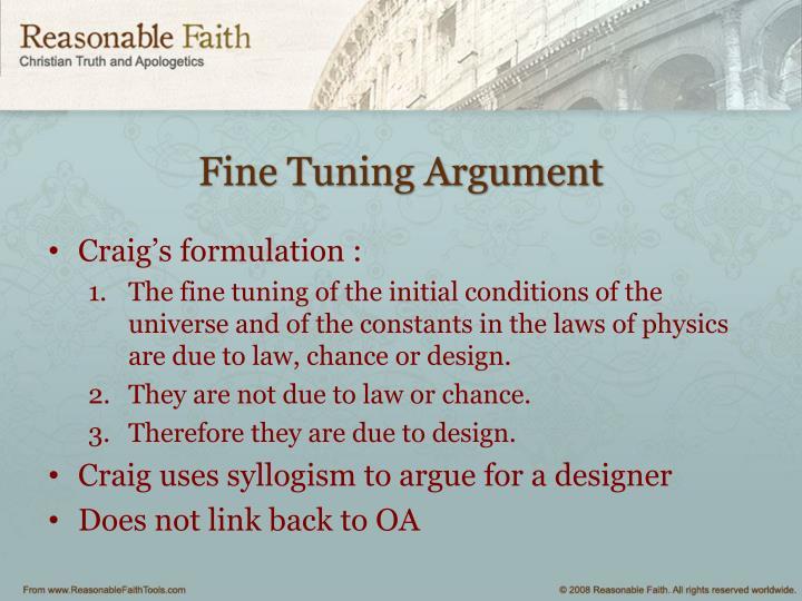 Fine Tuning Argument