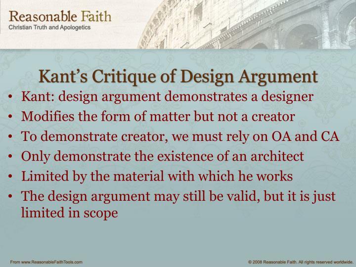 Kant's Critique of Design