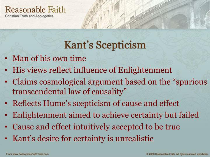 Kant's Scepticism