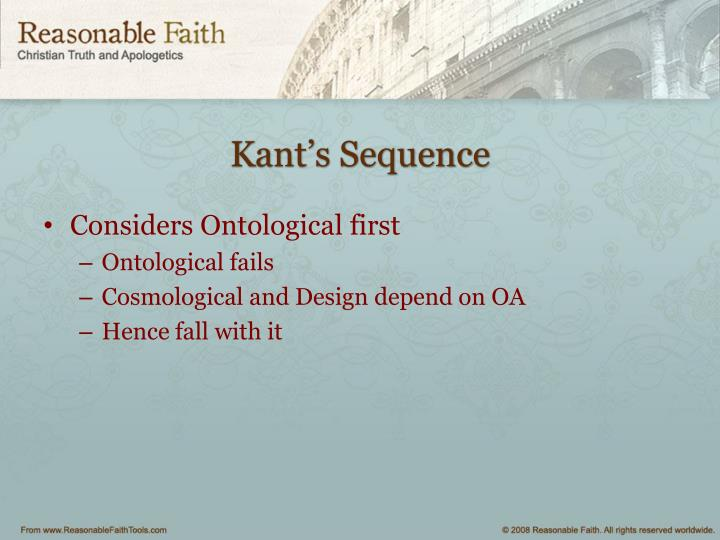 Kant's Sequence