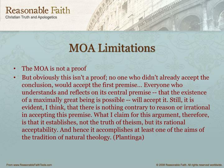MOA Limitations