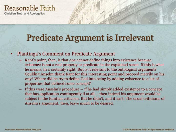 Predicate Argument is Irrelevant