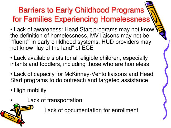 Barriers to Early Childhood Programs