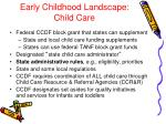 early childhood landscape child care