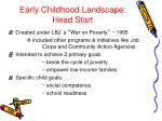 early childhood landscape head start