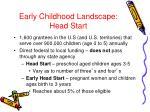 early childhood landscape head start1