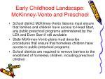 early childhood landscape mckinney vento and preschool