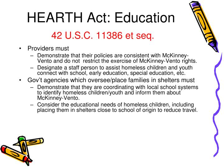 HEARTH Act: Education