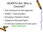 hearth act who is covered
