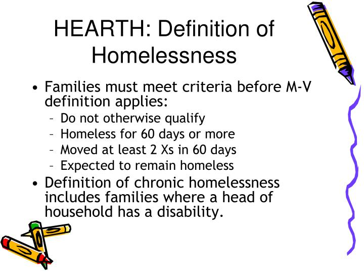 HEARTH: Definition of Homelessness