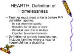 hearth definition of homelessness