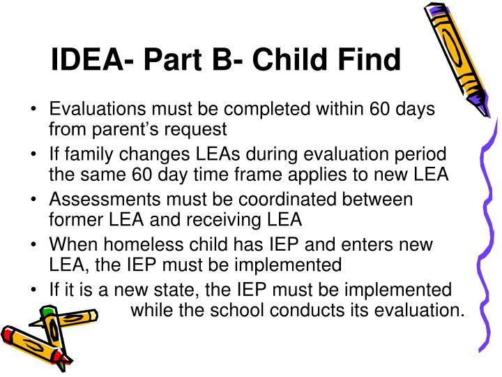 IDEA- Part B- Child Find