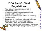 idea part c final regulations