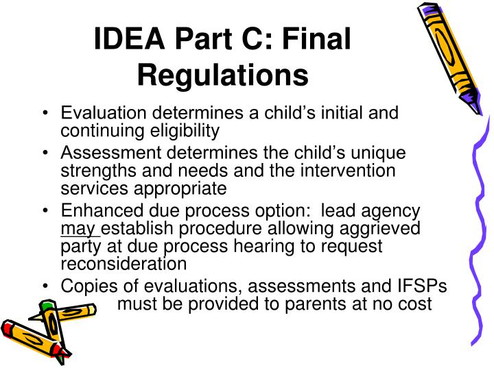 IDEA Part C: Final Regulations