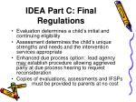 idea part c final regulations1