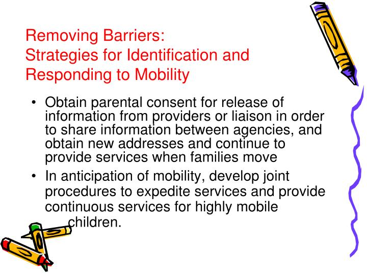 Removing Barriers: