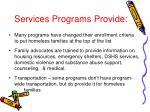 services programs provide