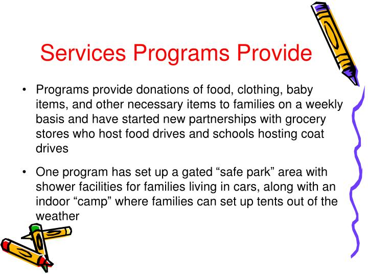 Services Programs Provide