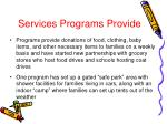services programs provide1
