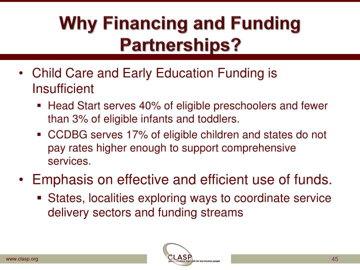 Why Financing and Funding Partnerships?