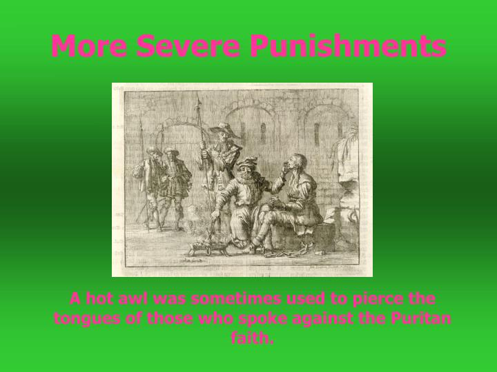 More Severe Punishments