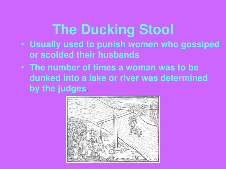 The Ducking Stool