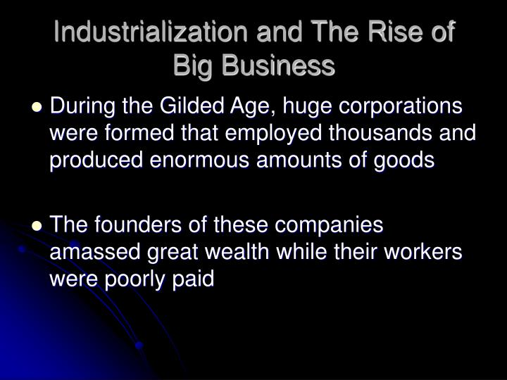 Industrialization and the rise of big business