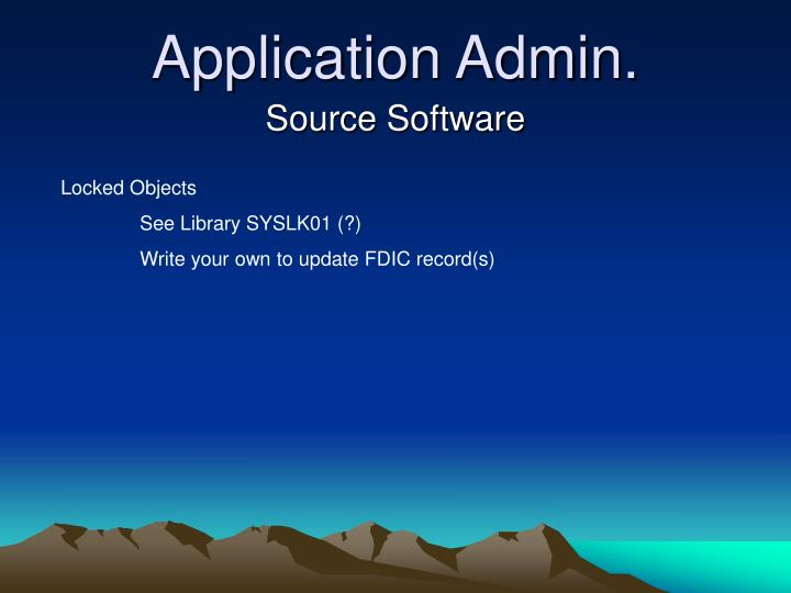 Application Admin.