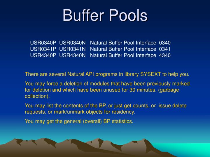 Buffer Pools