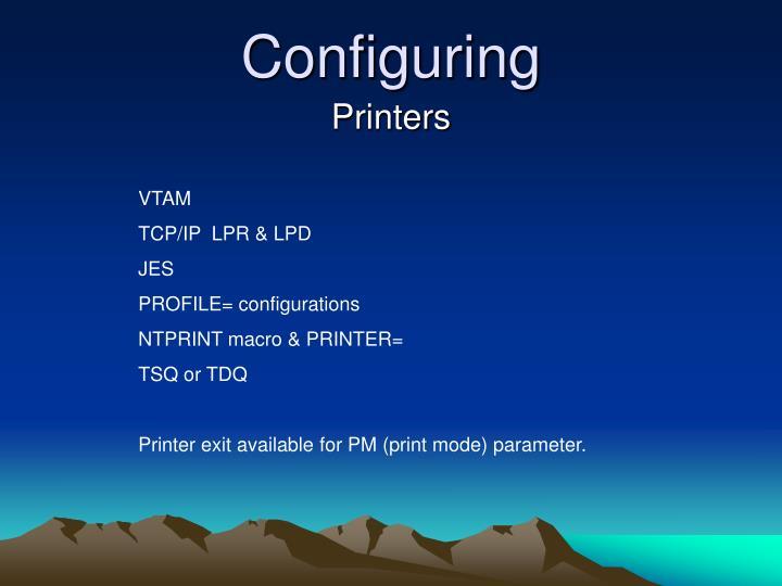 Configuring
