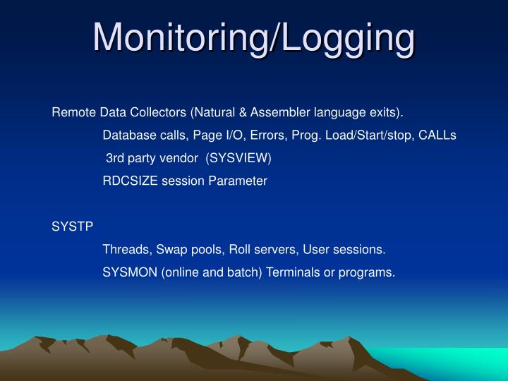 Monitoring/Logging