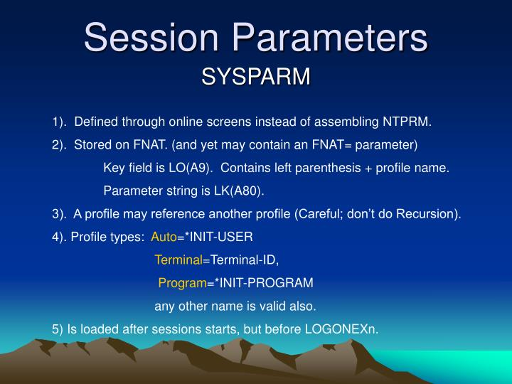 Session Parameters
