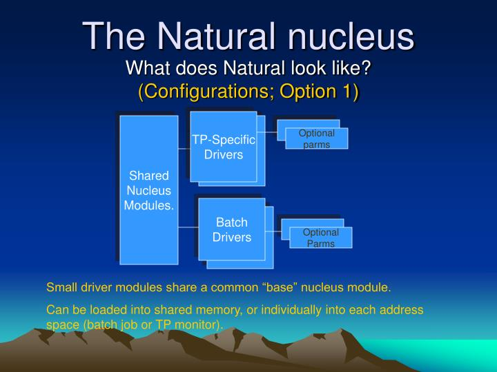 The Natural nucleus