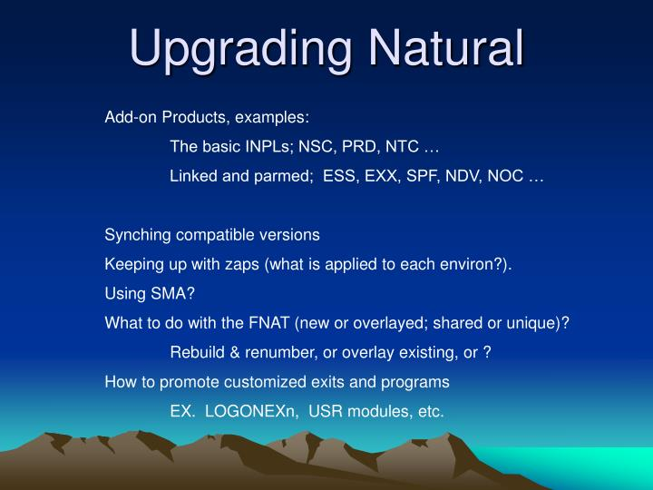 Upgrading Natural
