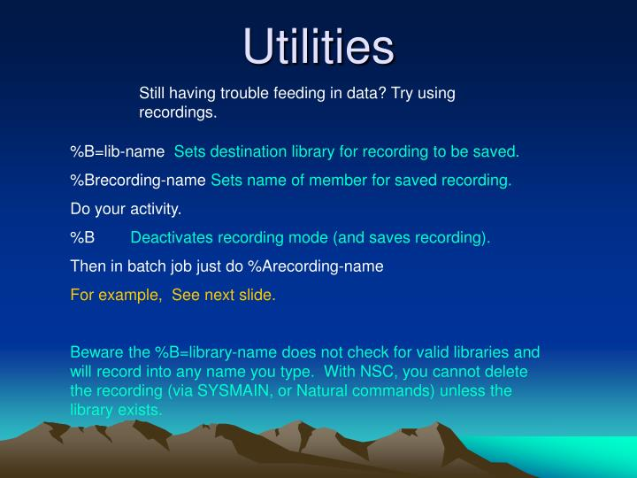Still having trouble feeding in data? Try using recordings.