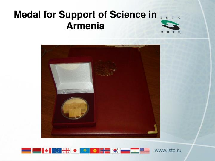 Medal for Support of Science in Armenia