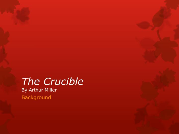 term papers on the crucible