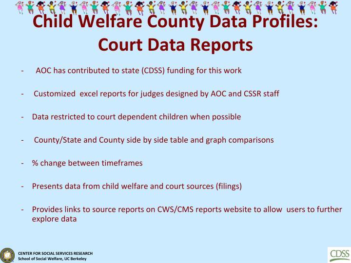 Child Welfare County Data Profiles: