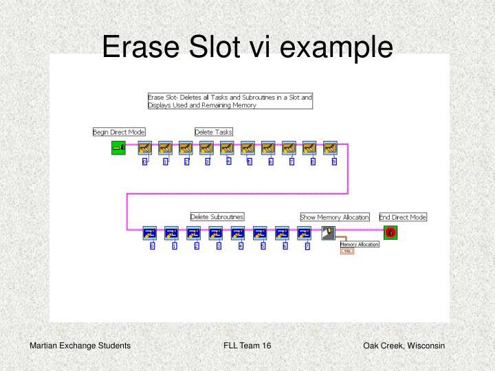 Erase Slot vi example