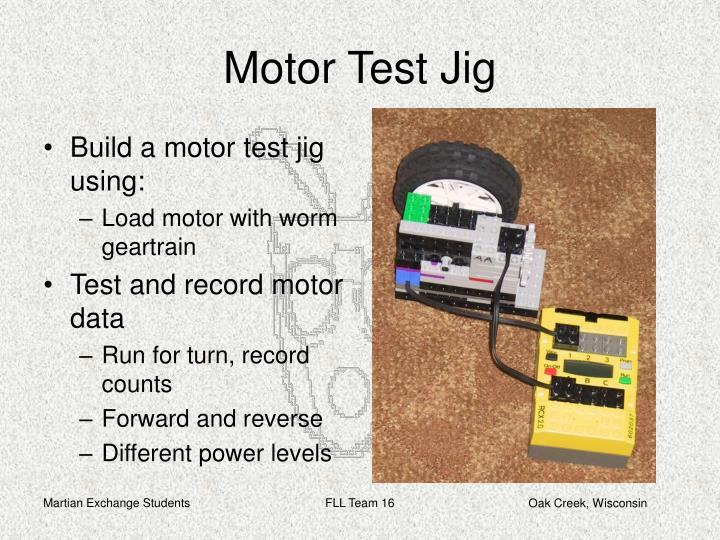 Motor Test Jig